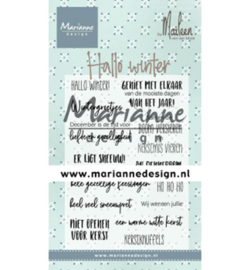 Marianne Design - Clearstamps - Hallo winter by Marleen
