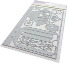 CraftEmotions Die - Planner essentials S-1 Card 12x20,5cm