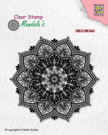 Nellies Choice - Clearstamp - Mandala - Star Flower -  CSMAN006 - 100x100mm