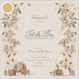 Craft Consortium - Tell the Bees - 6x6 Inch Paper Pad - 15,2 x 15,2 cm