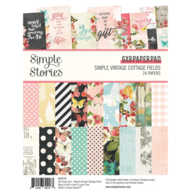 "Simple Stories - Simple Vintage Cottage Fields - 6"" x 8"" Pad"