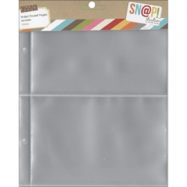 "Sn@p! Pocket Pages For 6""X8"" Binders 10 stuks,  4""X6"" Pockets"
