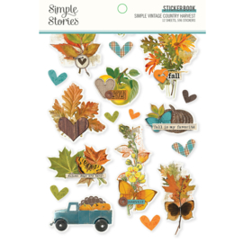 Simple Stories  -Simple Vintage Country Harvest - Sticker Book
