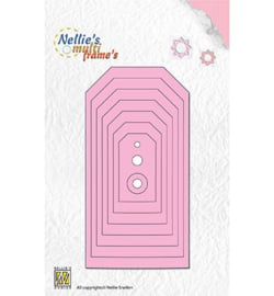 Nellie Snellen - Multi Frame Dies - Tags-5 Straight Corners