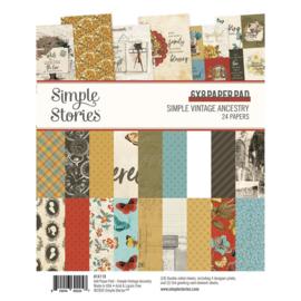 """Simple Stories - Simple Vintage Ancestry -  6"""" x 8"""" Pad"""
