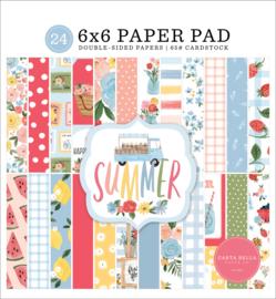 Carta Bella Summer 6x6 Inch Paper Pad (CBS133023) 15,2 x 15,2 cm
