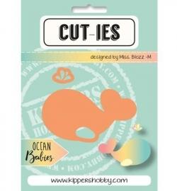 CUT-IES - Ocean Babies - Whale-Spray (snijmallen)