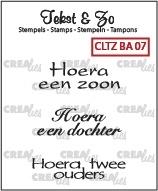 Crealies Clearstamp Tekst&Zo Baby 7 (NL) CLTZBA07