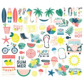 Simples Stories -Sunshine and Blue Skies  - Bits & Pieces Die-Cuts 55 stuks