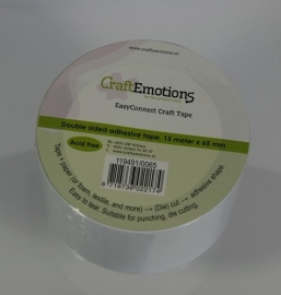 CraftEmotions EasyConnect (dubbelzijdig klevend) Craft tape 15m x 65mm