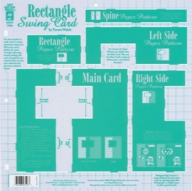Hot Off The Press - Rectangle Swing Card Template