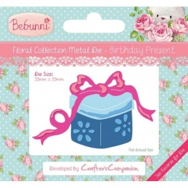 Bebunni Floral Metal Die - Birthday Present by Crafter's Companion