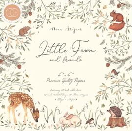 Craft Consortium -Little Fawn & Friends  -  6x6 Inch Paper Pad - 15,2 x 15,2 cm