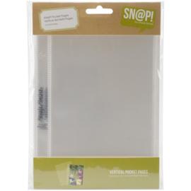 Sn@p! Pocket Pages - Vertical 4x6 Pocket Pages - designed for 6x8 SN@P! Binder