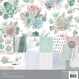 NIEUW Kaisercraft - paper pack 30,5x30,5cm Greenhouse