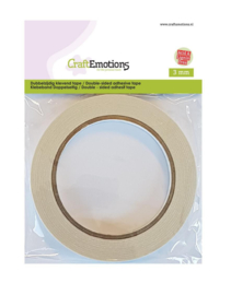 CraftEmotions - Dubbelzijdig klevend tape - 3 mm - 20 MT