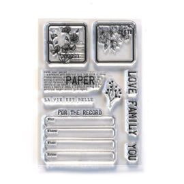 Elizabeth Craft Designs - Paper Love - clearstamps (CS214)