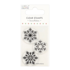 Simply Creative - Snowflakes Clear Stamp (SCSTP035X20)