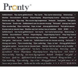Pronty Stickers A5 Quote black (Nederlands)
