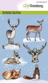 CraftEmotions  - clearstamps A6 -  Dieren uit het bos GB