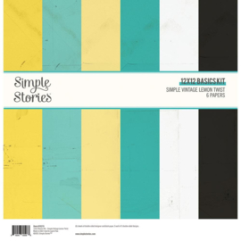 Simple Stories - Simple Vintage Lemon Twist  -12x12 Inch Basics Kit (15215)