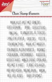 Joy! Crafts - Clearstempel - Banners (teksten)
