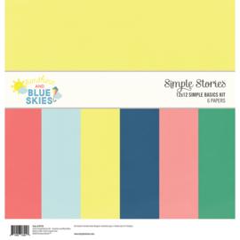 Simple Stories - Sunshine and Blue Skies - Simple Basics Kit 30,5 x 30,5 cm