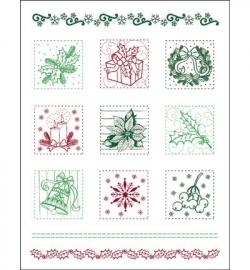 Viva Decor Clear Stamps - Weihnachtspatchwork