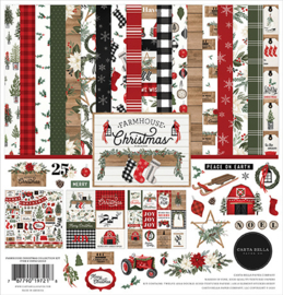 Carta Bella - Farmhouse Christmas - 12x12 Inch Collection Kit (30,5 x 30,5 cm)