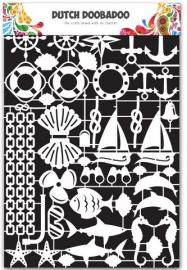 1 ST (1 VL) Dutch Paper Art Nautisch - A5