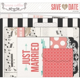 Teresa Collins - Save The Date - Cardstock File Folders & Tags