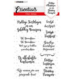 Studio Light - Clear stamp Christmas Handletter Prettige Feestdagen NL Essentials  nr.87