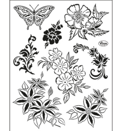 Viva Decor - Clearstamps - Bloemen (klassisch)