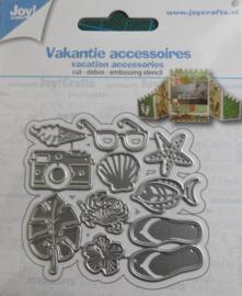 Joy!Crafts - Snij-debos-embosstansmal - Vakantie accessoires