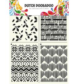 Dutch Doobadoo Dutch Mask Art stencil - Mask Art Multistencil Xmas