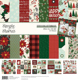 Simple Stories - Jingle All the Way - Collection Kit - 30,5 x 30,5 cm