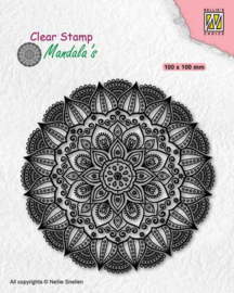 Nellies Choice - Clearstamp - Mandala - Dahlia Flower - CSMAN007 - 100x100mm
