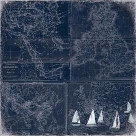 ScrapBerry's - Scrapbooking paper 30,5 x 30,5 cm dubbelzijdig - Seaside - The Deep Sea