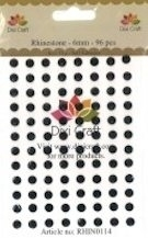 Dixi Craft - Rhinestones - 6mm - 96 stuks - Black
