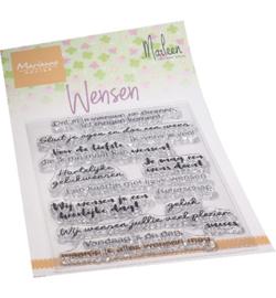 Marianne Design - Clearstamps -  Wensen by Marleen