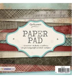 Studio Light - Paperpad 15 x 15 cm - Blok Patronen  Nr.72