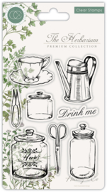 Craft Consortium -  The Herbarium - Clear Stamps - Utensils