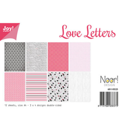 Joy!crafts - Papier Set A4 -  Design Love Lettters