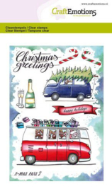 CraftEmotions - clearstamps A6 - x-mass cars 2 - Carla Creaties