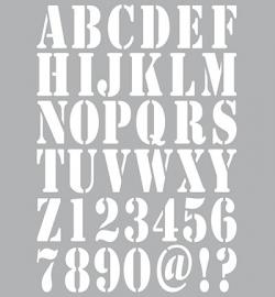 Dutch Doobadoo - Dutch Stencil Art A4 - Alphabet