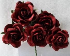 Trellis Roses - Dark Red