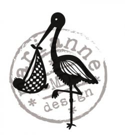 Marianne Design - Clearstamp - Ooievaar