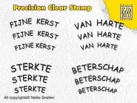 Nellie Snellen - Precision Clear Stamp - Dutch Texts - 2