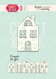 Craft&You -  Cutting Die - Huisje CW100