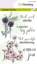 CraftEmotions - clearstamps A6 -  bloemen condoleance